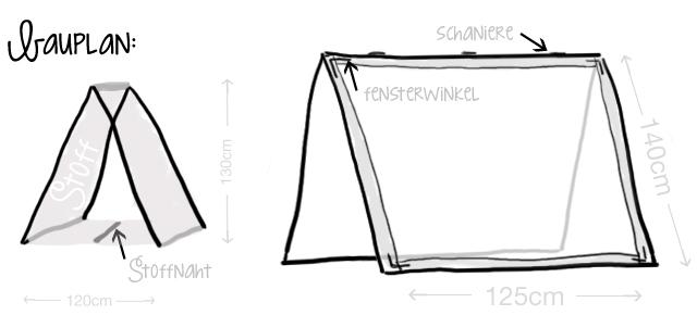 Zelt-DIY-Bauplan
