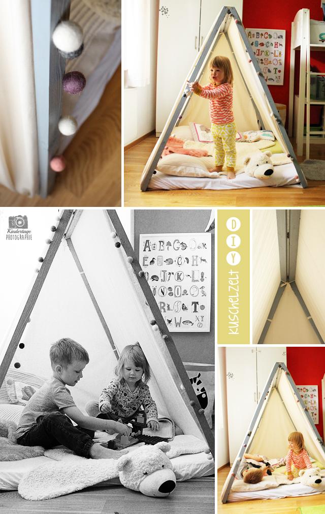 Zelt-DIY-Collage