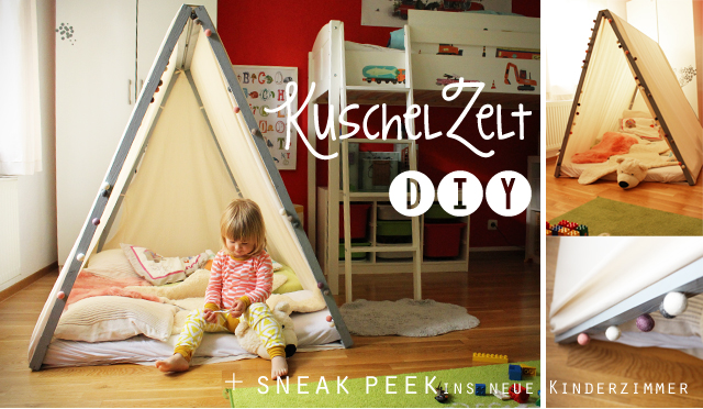 wir sind dann mal im zelt diy f r s kinderzimmer kindertage. Black Bedroom Furniture Sets. Home Design Ideas