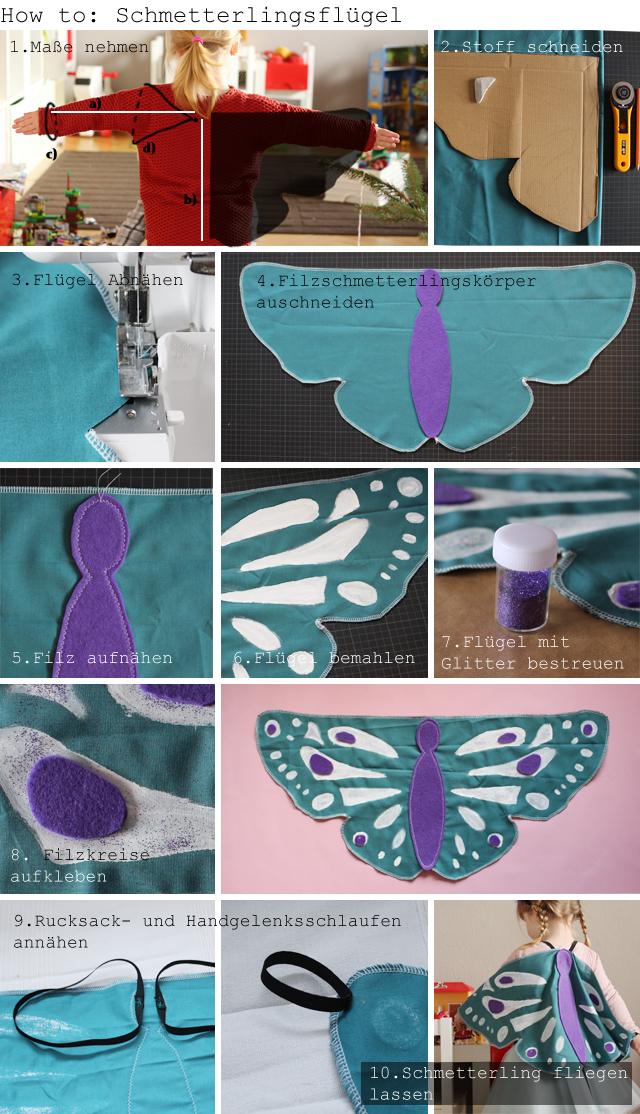 Diy Schmetterlingskostum Kindertage Design Im Kinderzimmer